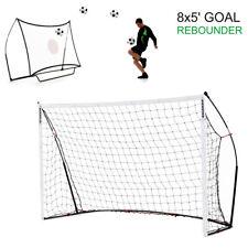 Kickster Combo 2in1 Fußball Rebounder & Tor (2,4*1,5m) - ideal für Hof & Garten!