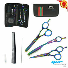 "Professional 5.5 ""parrucchiere Forbici Set Barber RASOIO Cesoie KIT + Hair Shaper"