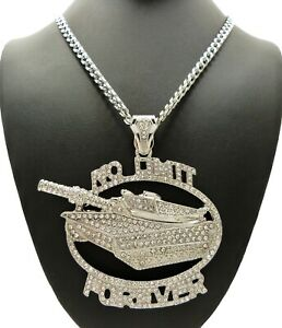"""NO LIMIT FOREVER Pendant 18"""" ~ 30"""" Stainless Steel Cuban Chain Hip Hop Necklace"""