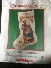 DIMENSIONS Christmas Stocking Kit 8070 Crewel Embroidery 1989 Nativity Htf Nip