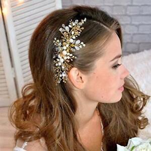 Jakawin Bride Wedding Hair Comb Pearl Bridal Hair Accessories Hair Piece for ...