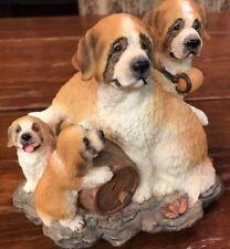 Saint Bernard Family w/ Puppies Item No. 3635 Westland 1999 Figurine Music Box