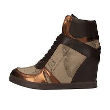 scarpe donna 1° CLASSE ALVIERO MARTINI 38 sneakers marrone bronzo pelle AF221-C