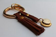 Quality Leather keychain with Israel coins