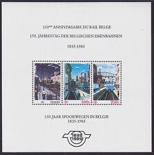 Belgium 1985 MNH Railway Parcel Post Souvenir Sheet Cob# TRBL4 - Cat Value 150 €
