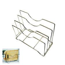 Stainless Steel Wire Chopping Board Holder Cutting Board Rack Kitchen Organizer