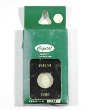 "CP #144 Dime - 1942/41 - Black  2""x2"" Capital Plastic Holder Three Panel Acrylic"