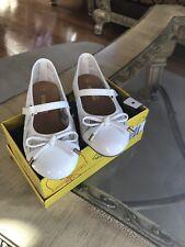 Smartfit White/Off White Ballet Slippers Girls Size 8