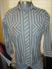 Wrangler Brand Pearl Snap Shirt L Western Vintage Rockabilly Embroidered Design