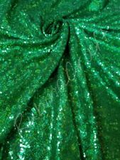 Green Iridescent Sequin Fabric, Green Holographic, Glitter sequin fabric