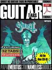 GHOST Guitar Tabs PDF Sheet Music CD-R Digital Ghost BC Tablature