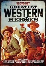 GREATEST WESTERN HEROES New 12 DVD Set 67 Hrs John Wayne Roy Rogers Lone Ranger