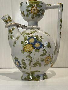 Antique Cantagalli Italian Firenze Majolica Coffee Pot Hand Painted