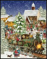 Christmas Train - Chart Counted Cross Stitch Patterns Needlework DIY 14 ct