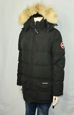 Women's Canada Goose 'Solaris' Black Down Parka With Coyote Fur Medium M $850