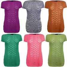 Ladies Women Knitted Cape Sleeve Zigzag Cable Knit Jumper Top Sweater 8 10 12 14