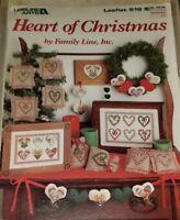 DEC022 LEISURE ARTS 1987 HEART OF CHRISTMAS ~ 8 CROSS STITCH DESIGNS