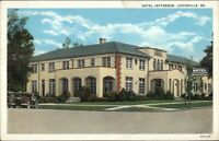 Louisville GA Hotel Jefferson c1920 Postcard