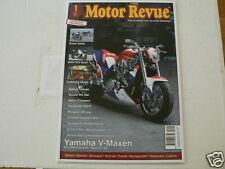 MOTOR REVUE 2011-01 POSTER EUROL BIKE,BMW HP2 SPORT,NORTON,TRIUMPH,SUZUKI RACERS