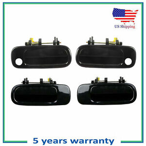Front & Rear Outside Outer Door Handle 4PCS For 1992-1996 Toyota Camry Black 202