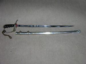 Vintage N.S. Meyer New York Germany Civil War Saber Sword Letter Opener