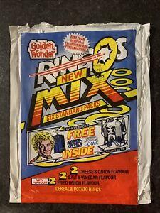 Doctor Who Golden Wonder Ringos - Empty Multipack Crisp Bag Wrapper 1986.