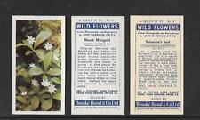 Type Cards: Brooke Bond - WILDFLOWERS  'A' SERIES . VG. ( cream, thin, white )