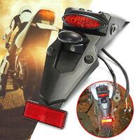 MOTORCYCLE TRIAL DIRT BIKE ENDURO REAR FENDER LED STOP BRAKE TAIL PLATE  '.