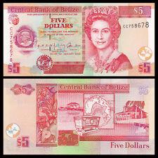 Belize 5 Dollars, 2002, P-61b, UNC