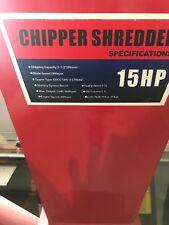 15hp chipper shredder 420ccc