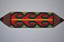 Glass Seed Bead South American Loomwork Ceremony Bracelet, Colombian Beadwork
