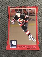 1997-98 DONRUSS ELITE MARIAN HOSSA ROOKIE ASPIRATIONS DIE-CUT RED PRINT #ed /750