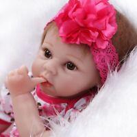 55cm Lebensechte Reborn Baby Soft Vinyl Real Life Neugeborenen Puppe Baby