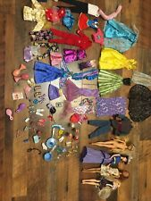 Mixed Lot Of Disney, Barbie & Other Clothes, Dolls & Accessories