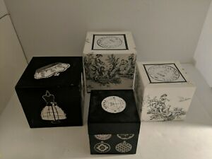 Nesting Boxes, French Themed, Set Of 4, Car Cardboard Material