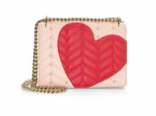 KATE SPADE Heart it MARCI studded applique chain leather bag NWT