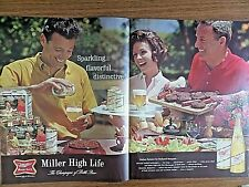 1964 Miller High Life Beer Ad Backyard Barbecue 1964 Samoa Snow Crop Drinks Ad
