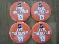 Syracuse University Basketball Collector Pins / Buttons 2017 Level The Devils