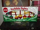 Vintage Christmas Ritz Bubble Lights in original box, 2 bonus lights Untested