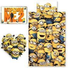 Despicable Me 2 Minions Single Panel Duvet Cover Bed Set New Gift