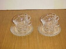 FOSTORIA CRYSTAL COLONY  CUP AND SAUCER SET