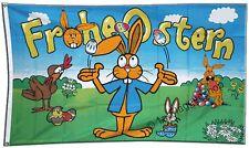 """Bandiera """"Frohe Ostern"""" """"Buona Pasqua"""" 4-90 X 150 Cm"""