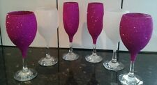 💟💟 4 champagne and 8 wine glitter glasses💟💟 can be done any colour 💟💟