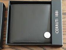 Cerruti 1881 Black Leather Dover Bifold Wallet NIB