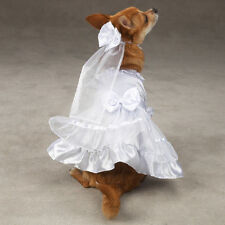 East Side Collection Polyester Yappily Ever After Dog Wedding Dress, Large