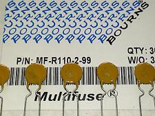 5 Stück Bourns MF-R110 Resettable Fuse (Multifuse) 1,1A 30V / Sicherung (M1554)