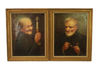 Vtg Hector Moncayo Original Oil on Board Paintings Old Man & Woman Famed Signed