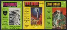 3 Issues OTHER WORLDS, Science Fiction Pulp Magazine—May, July, Sept 1955, VG-F