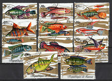 GUINEA  #570-574, 576-580  USED  FISHES (1705059)