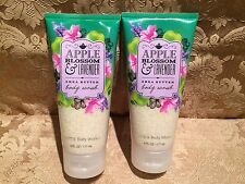 Bath & Body Works Apple Blossom & Lavender Body Exfoliant Scrub Set Of 2